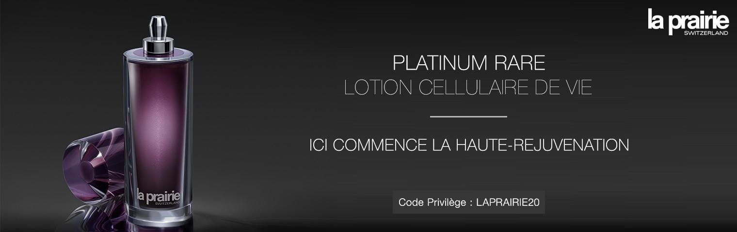 PLATINUM RARE LOTION CELLULAIRE DE VIE LA PRAIRIE : ICI COMMENCE LA HAUTE-REJUVENATION